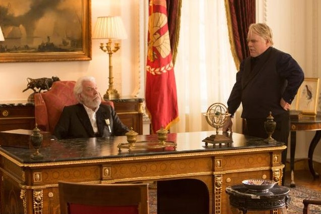 Donald Sutherland and Philip Seymour Hoffman debate the latest Games